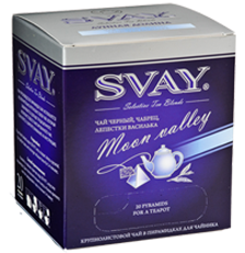 Чай SVAY Moon Vally (чай черный, чабрец, лепестки василька) 20*2г.