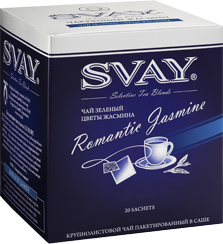 Чай SVAY Romantic Jasmine (чай зеленый с цветами жасмина) 20*2г