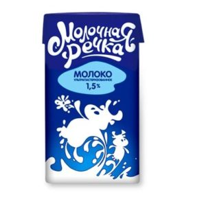 "Молоко ""Молочка речка"" 1 л, жирность 1,5%"