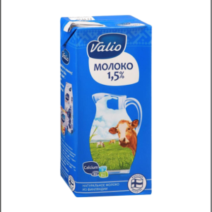 Молоко Valio 1л, жирность 1,5%
