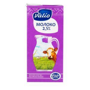 Молоко Valio UHT 1л, жирность 2,5%