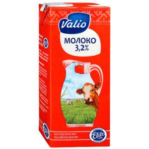 Молоко Valio 1л, жирность 3.2%