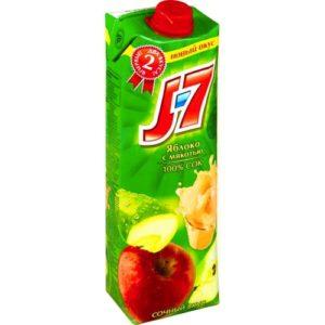 Сок J7 Яблоко с мякотью 0,97