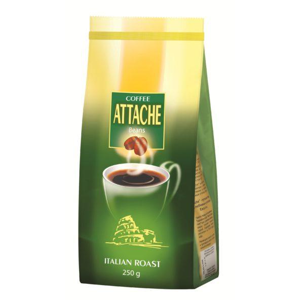 Кофе зерновой Attache 250 гр ( Итальянская обжарка)