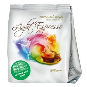 """Кофе в чалдах """"Light Espresso Ирландский Крем"""" 25 шт"""