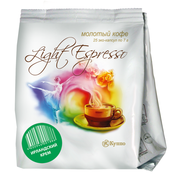 """Кофе в чалдах """"Light Espresso Ирландский Крем"""" 200 шт"""